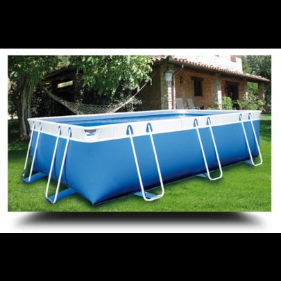 Piscina MARETTO Comfort h 125 - 2,5x4,5m - Colore Azzurro.