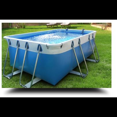 Piscina MARETTO Comfort h 100 - 2x4m - Colore Azzurro.