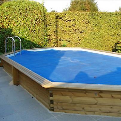 Copertura estiva a bolle per piscine in legno Ovale - 4,60 x 8,10 m GARDIPOOL.