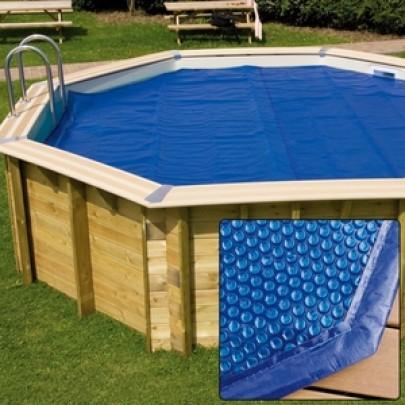Copertura estiva a bolle per piscine in legno Ø 5 m.