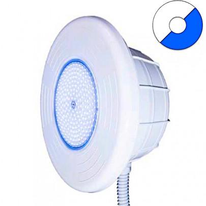 Faro LED Ø 320 mm BIANCO - BLU con Nicchia in ABS per piscina con rivestimento in PVC.