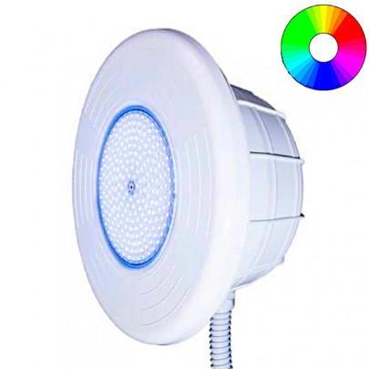 Faro LED Ø 320 mm RGB con Nicchia in ABS per piscina con rivestimento in PVC.