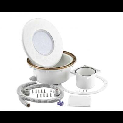 Kit corpo faro Pool's con Led Bianco o RGB per Cemento Armato / Liner.
