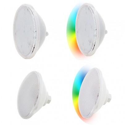 Lampade piscina per faro LED PAR56 con ottica piatta - Bianca/RGB.