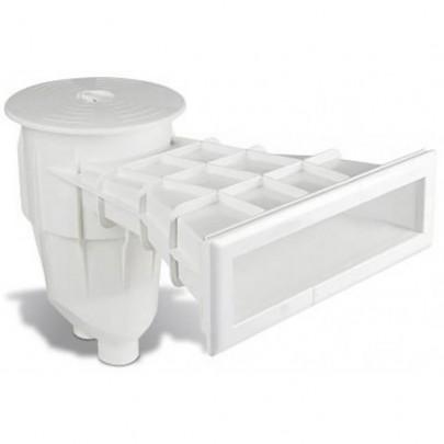 Skimmer Sfioratore in ABS per piscina in Pannelli / Cemento e rivestimento in PVC / Piastrelle.