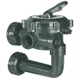 """Valvola selettrice laterale 1 1/2"""" con collegamento a filtro - Flat"""