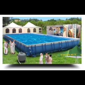 Piscina MARETTO Event Best h 125 - 8x15 m - Colore Azzurro + KIT Piscina.