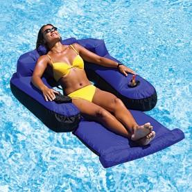 Poltrona gonfiabile galleggiante Chaise longuedi lusso.