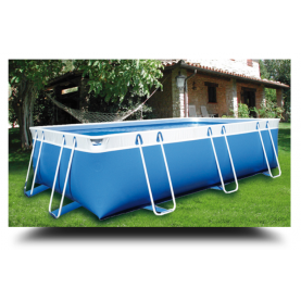 Piscina MARETTO Comfort h 125 - 2x5m - Colore Azzurro.