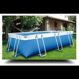 Piscina MARETTO Comfort h 125 - 2,5x5m - Colore Azzuro.