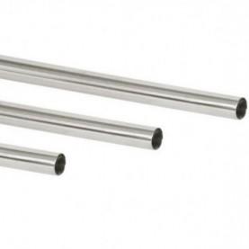 Corrimano diritto in acciaio inox con 1 estremità chiusa e l'altra aperta Ø 43 mm.