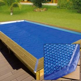 Copertura estiva a bolle per piscine in legno rettangolari - 3,90x8,20 m GARDIPOOL.