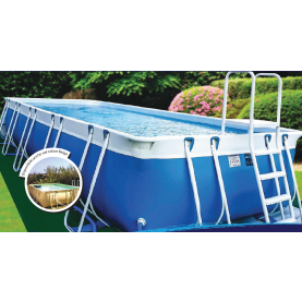 Piscina MARETTO Luxury Large h125 - 4x6m - Colore Azzurro + KIT Piscina .