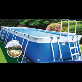 Piscina MARETTO Luxury Large h125 - 5x10m - Colore Azzurro + KIT Piscina .
