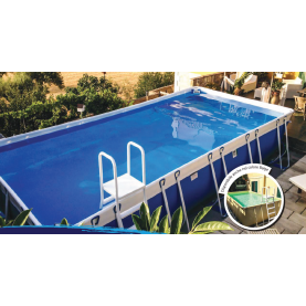 Piscina MARETTO Luxury Large h 140 - 4x6m - Colore Azzurro + KIT Piscina.