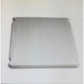 Piattaforma in ABS Bianco di ricambio per scaletta piscina fuori terra.