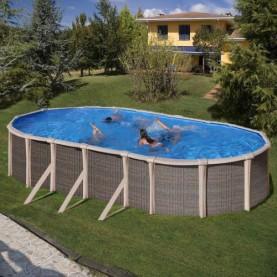 Piscine fuori terra Ovale Fusion Pool H 135 cm.