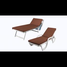 Pomodone - Materassino per lettino a spiaggia e cuscini per sdraio da giardino - Ecopelle.