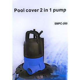 Pompa Sommersa Automatica Svuota Teli per Piscina 5000 l/h Pool Cover 2 in 1.