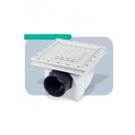 Presa Di Fondo Aquamax Con Griglia Antivortice - D.110F – 125 M - In ABS 315x315 per rivestimento in PVC.