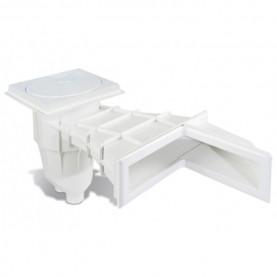 Skimmer Sfioratore ad Angolo in ABS per piscina in Pannelli / Cemento e rivestimento in PVC / Piastrelle.