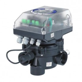 """Valvola selettrice automatica System VRAC Flat 1 1/2"""" - Laterale & Top."""